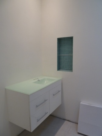 Installation du meuble lavabo