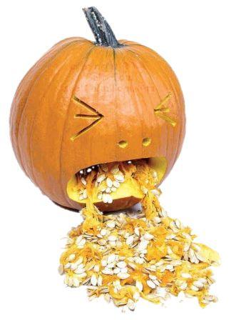 citrouille halloween qui vomit
