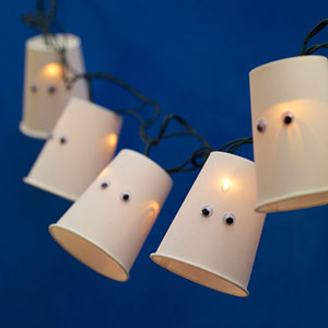 guirlande fantôme DIY halloween