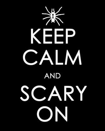 affiche halloween gratuite Keep calm and scarry on