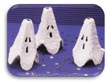 fantômes boite d'oeuf DIY Halloween