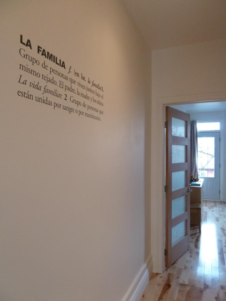 Une d finition de dictionnaire comme d co murale d conome - Stickers couloir maison ...