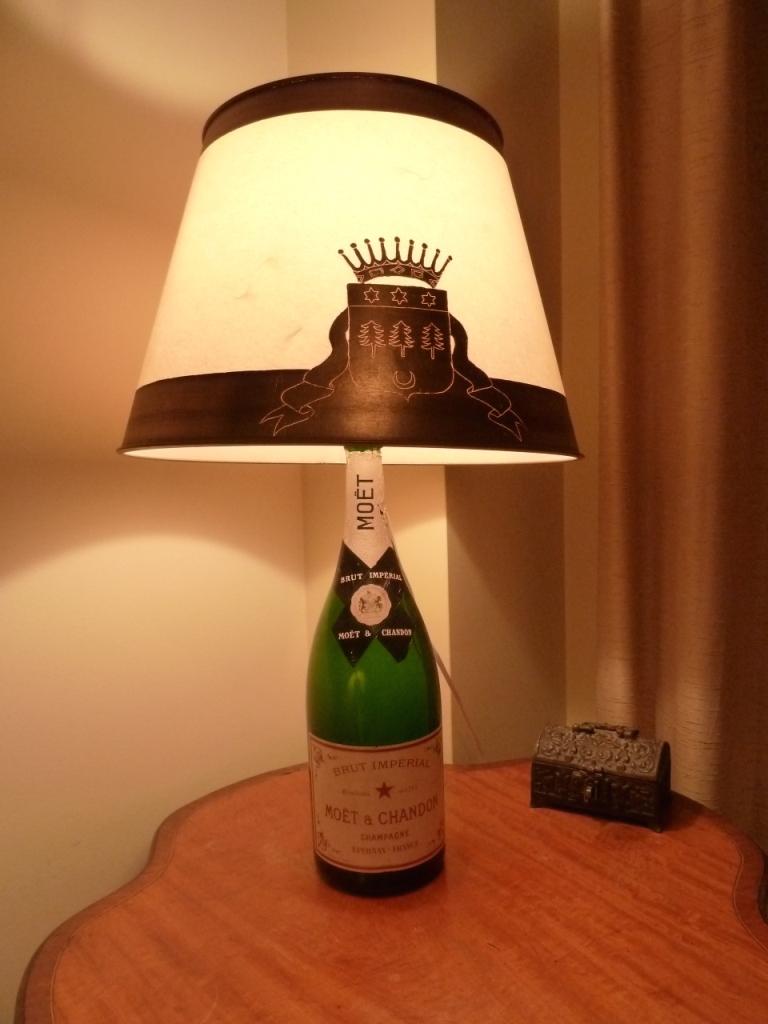 lampe bouteille de champagne