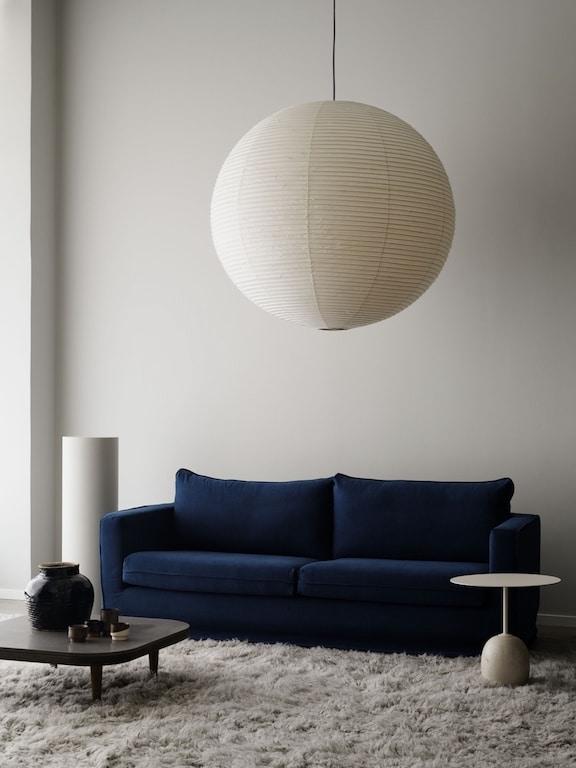 housse canapé en velours bleu marine