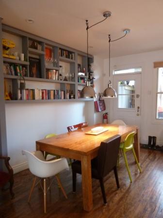 Rénovation cottage salle à dîner vintage
