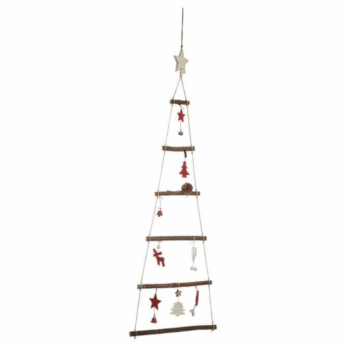 sapin de Noël en ficelle et branches de bois
