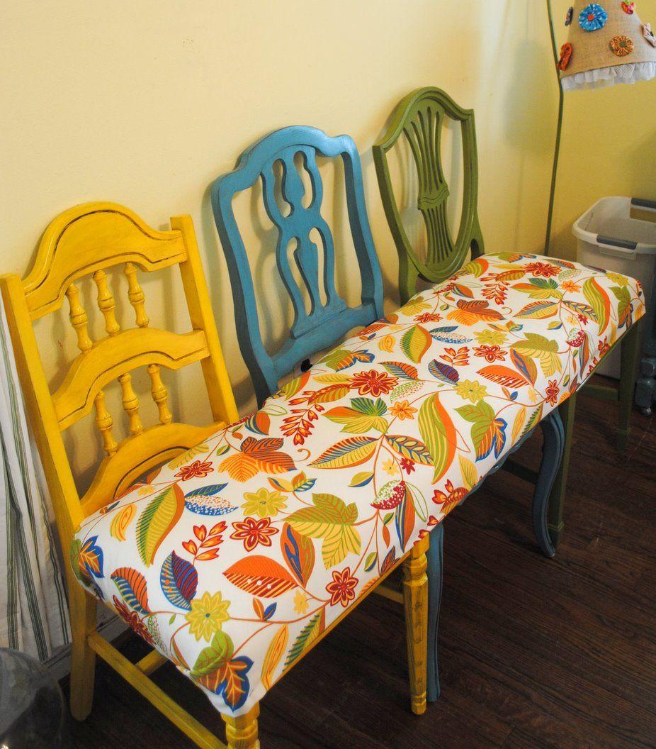 La photo du jour: la banquette de chaises   déconome