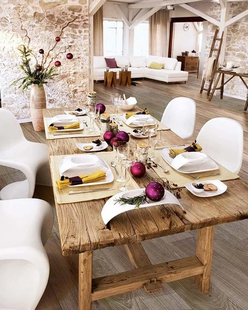 Les 20 plus beaux d cors de tables de no l d conome for Table de noel chic