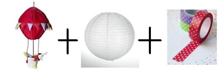 diy un luminaire montgolfi re pour chambre d 39 enfant d conome. Black Bedroom Furniture Sets. Home Design Ideas