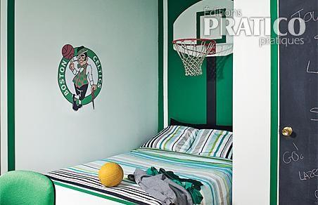 Id es d co pour chambres d 39 enfants sportifs d conome - Deco basketball chambre ...