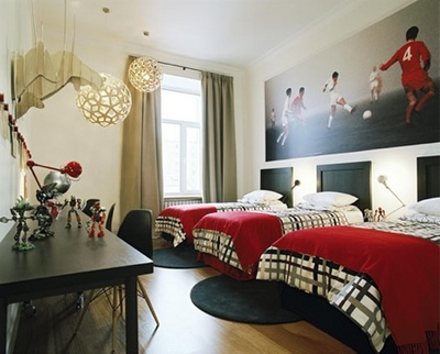 id es d co pour chambres d 39 enfants sportifs d conome. Black Bedroom Furniture Sets. Home Design Ideas