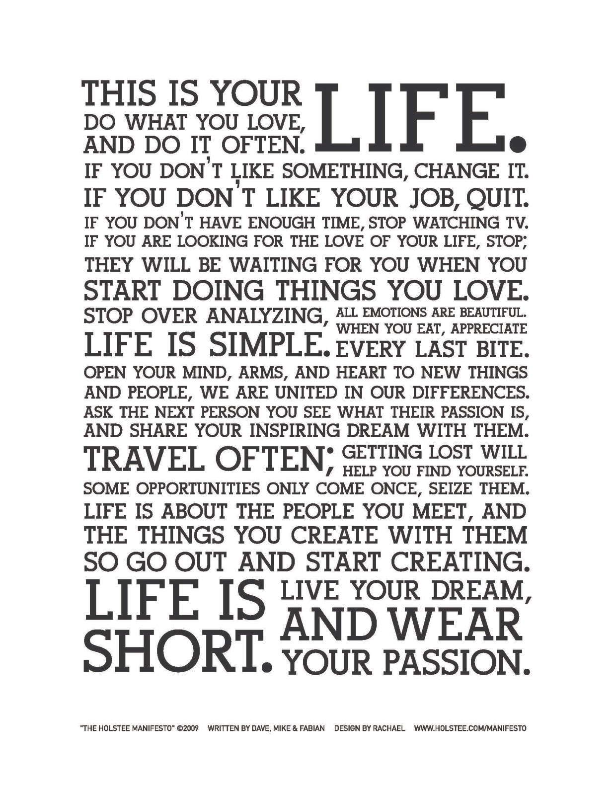 Holstee_Manifesto This is your life