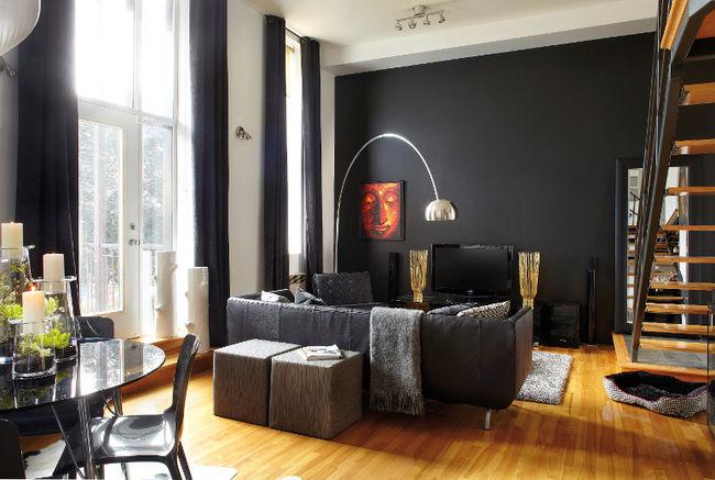 Solutions pour cacher la t l d conome for Mur noir dans salon