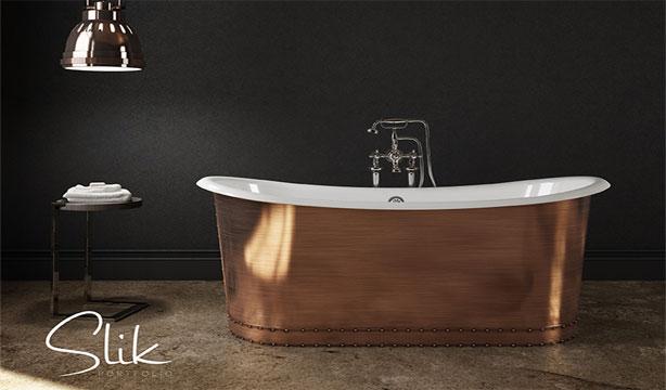 baignoire fonte effet miroir slik