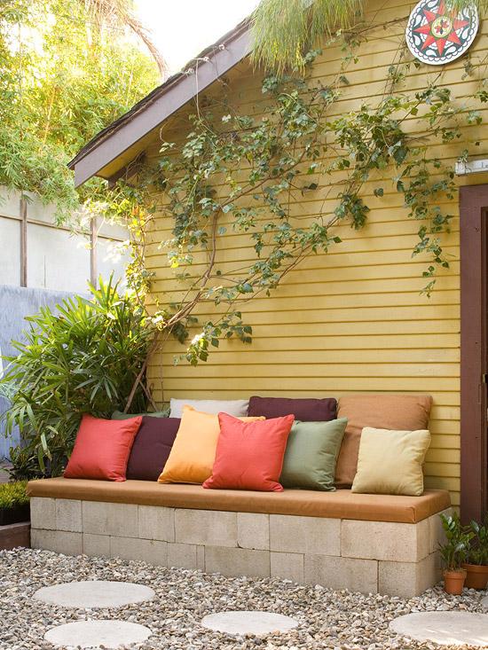D corer son jardin avec des parpaings blocs de b ton for Bloc beton jardin