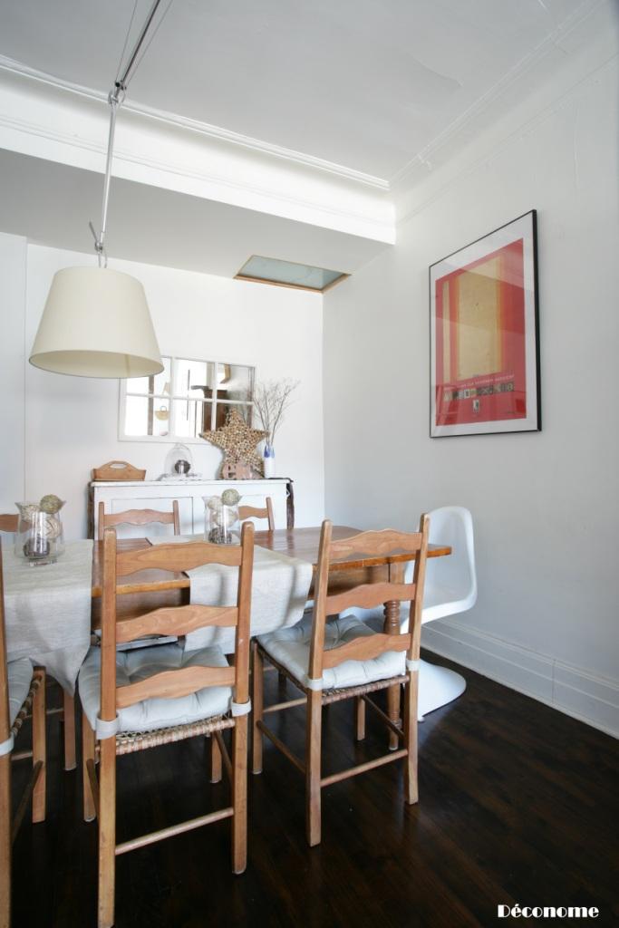 chaise panton blanche salle à manger