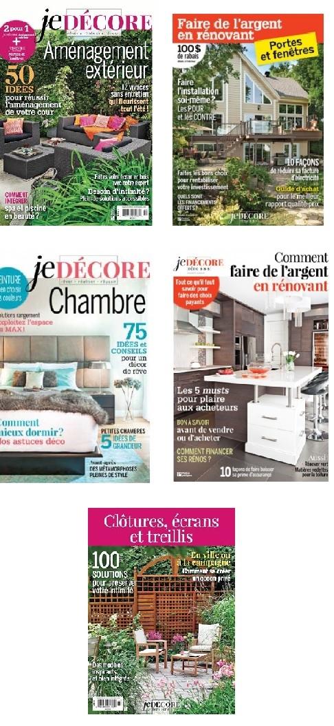 Les magazine Je Décore - Éditions Pratico-pratiques