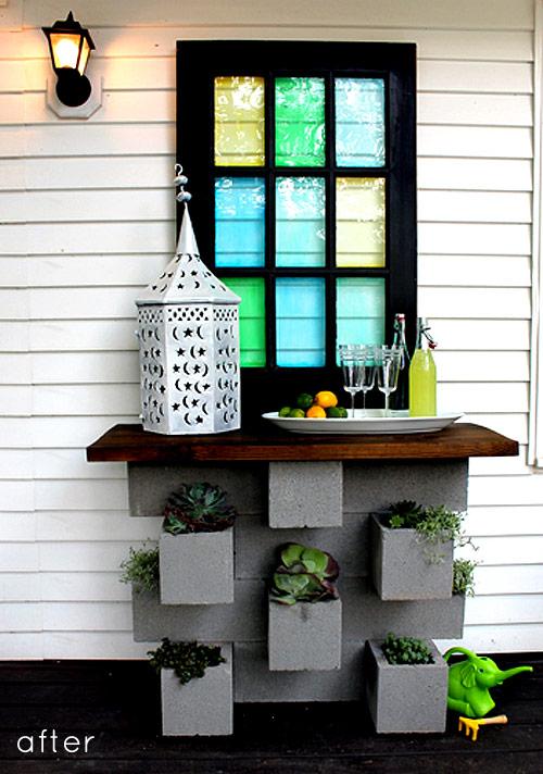 D corer son jardin avec des parpaings blocs de b ton for Ciment pour parpaing