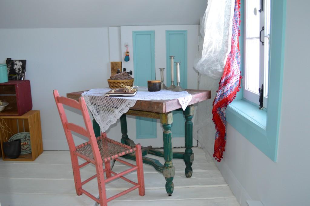 chambre bleu turquoise et blanc