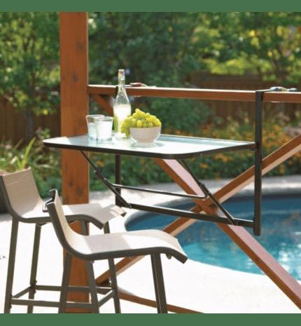 5 tables id ales pour les petits balcons d conome for Table de cuisine suspendue