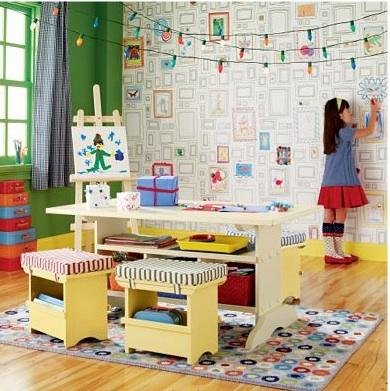 papier peint colorier vive la cr ativit d conome. Black Bedroom Furniture Sets. Home Design Ideas