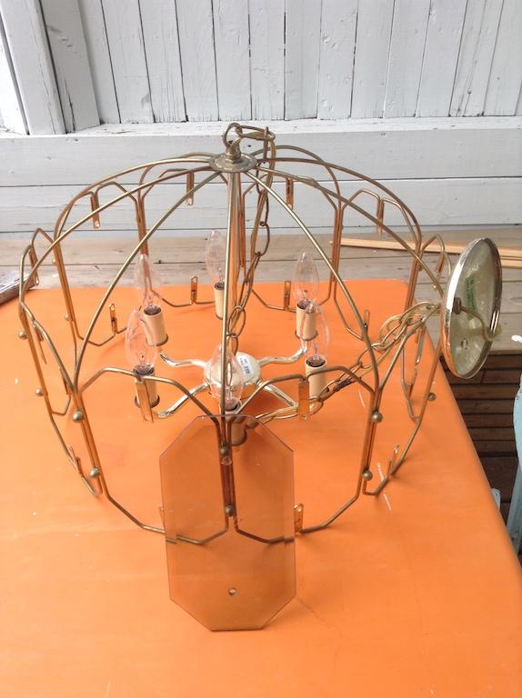 relooking lustre suspension vintage années 70