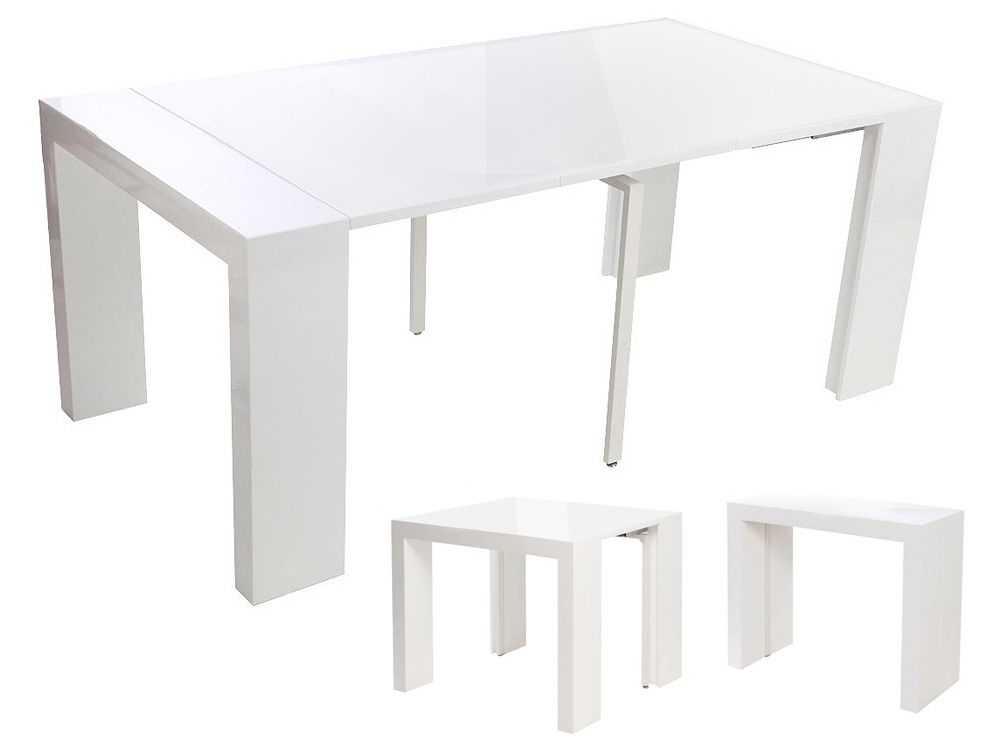 Pratique la table console extensible d conome - Table console extensible blanche ...