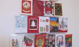 Le calendrier de l'Avent fait de cartes de Noël