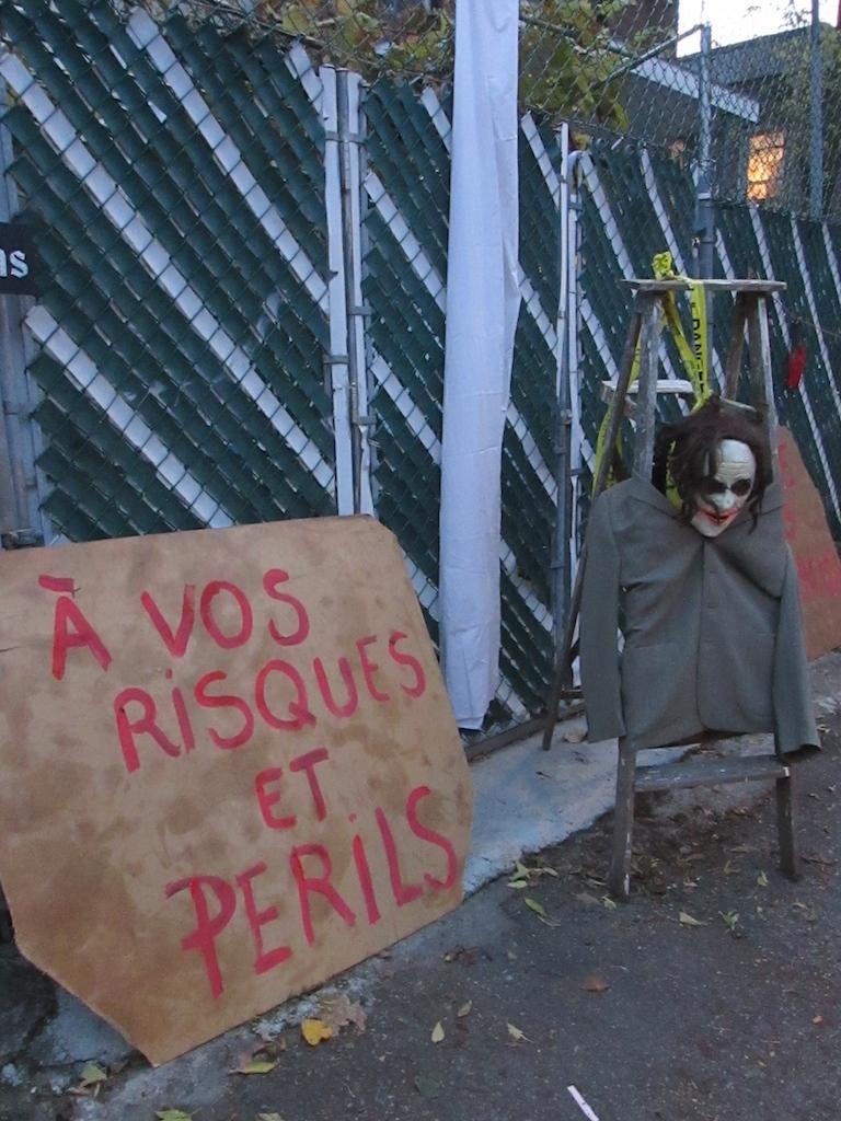 Ruelle hantée Halloween Montréal Villeray