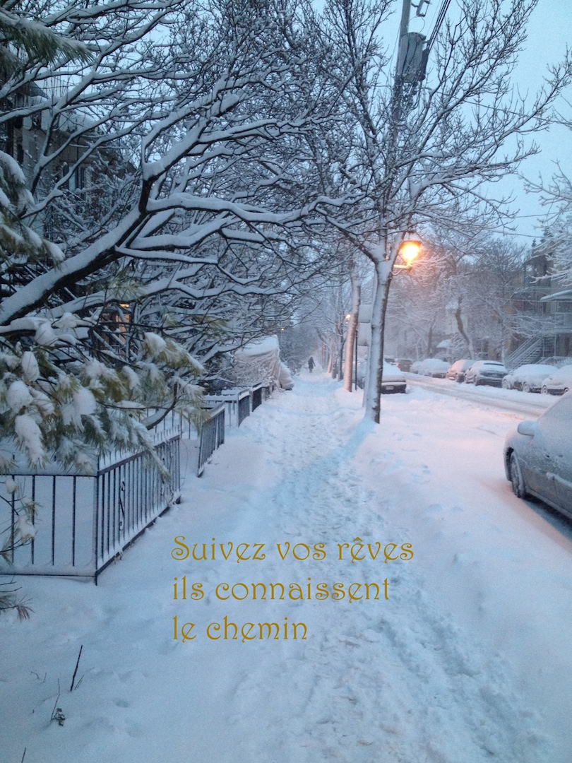 rue neige citation rêve