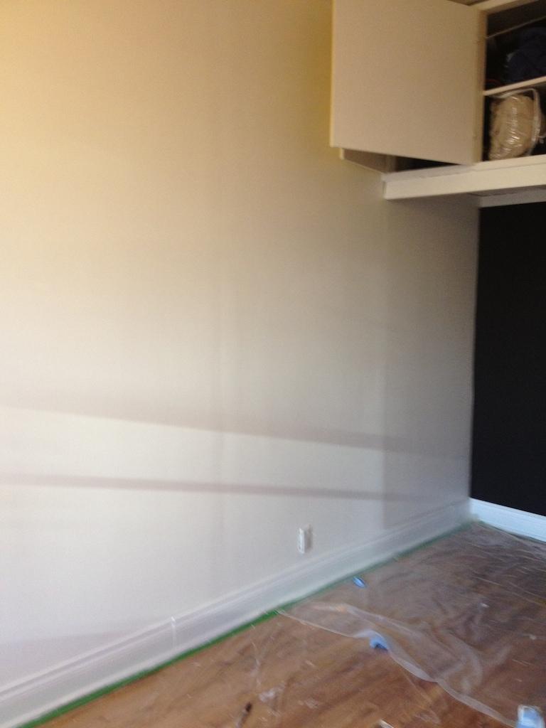 étape peindre mur rayure