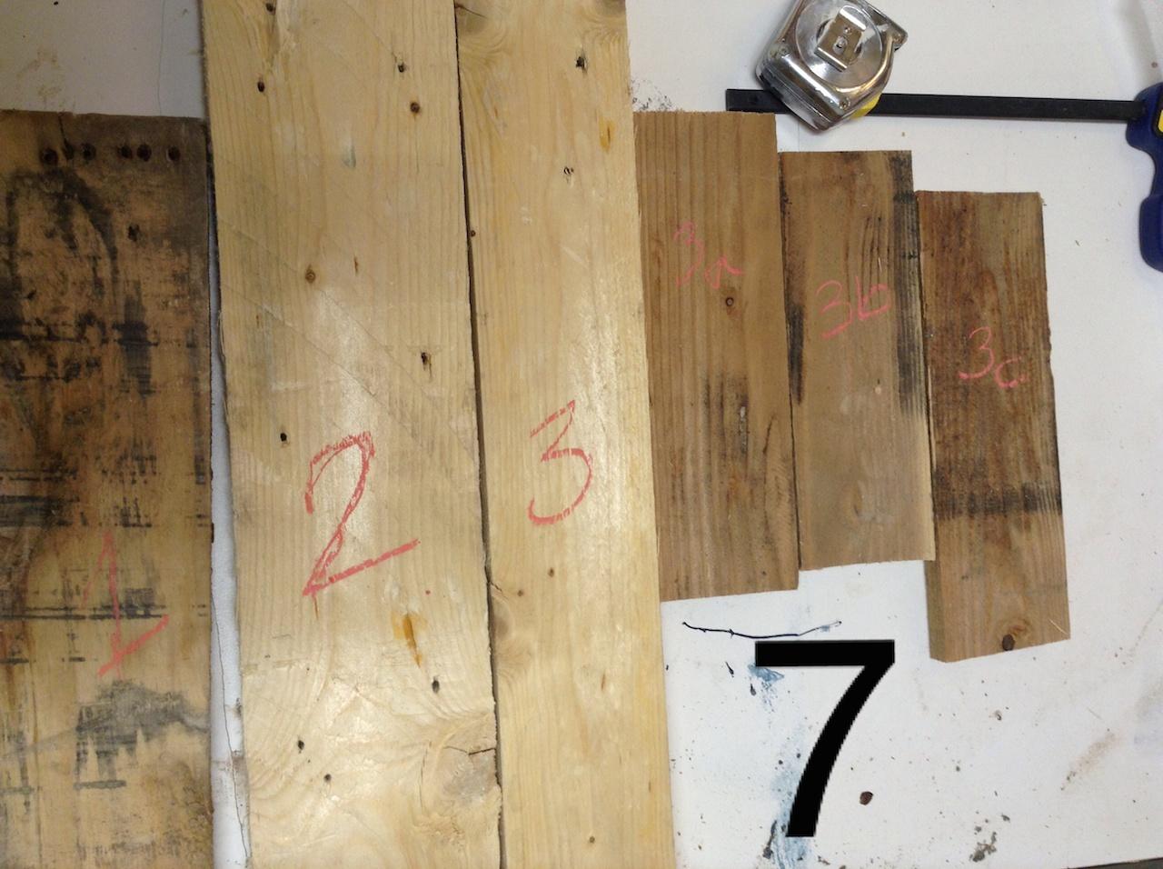 recouvrir une table basse en bois de palette - déconome