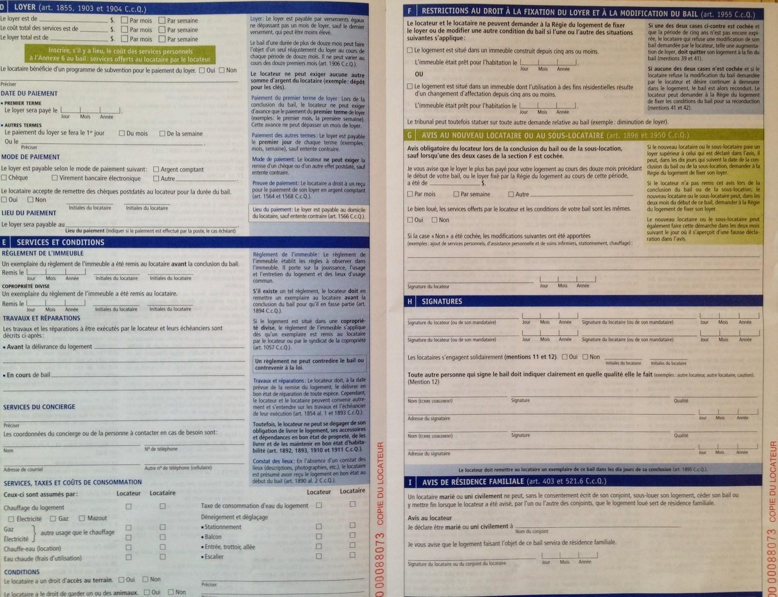 Les changements du nouveau bail de la r gie du logement du qu bec d conome - Droit du locataire en cas de vente du logement ...