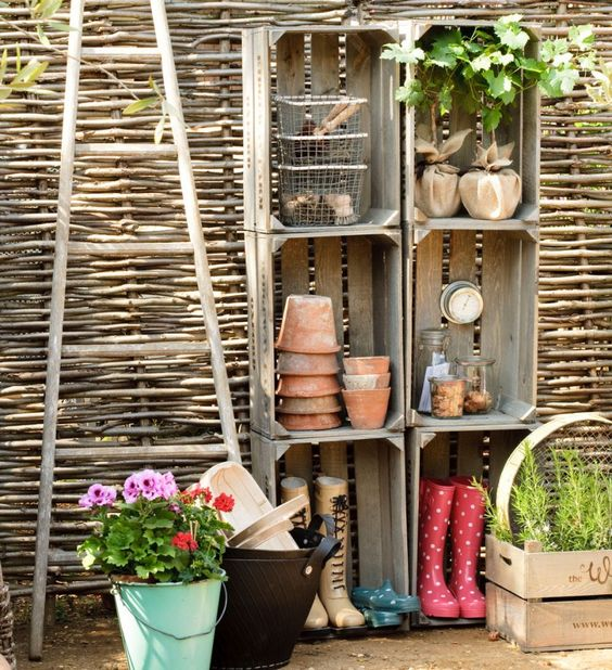 cagette en bois etagere de jardin