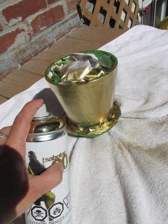 spray pot de fleur
