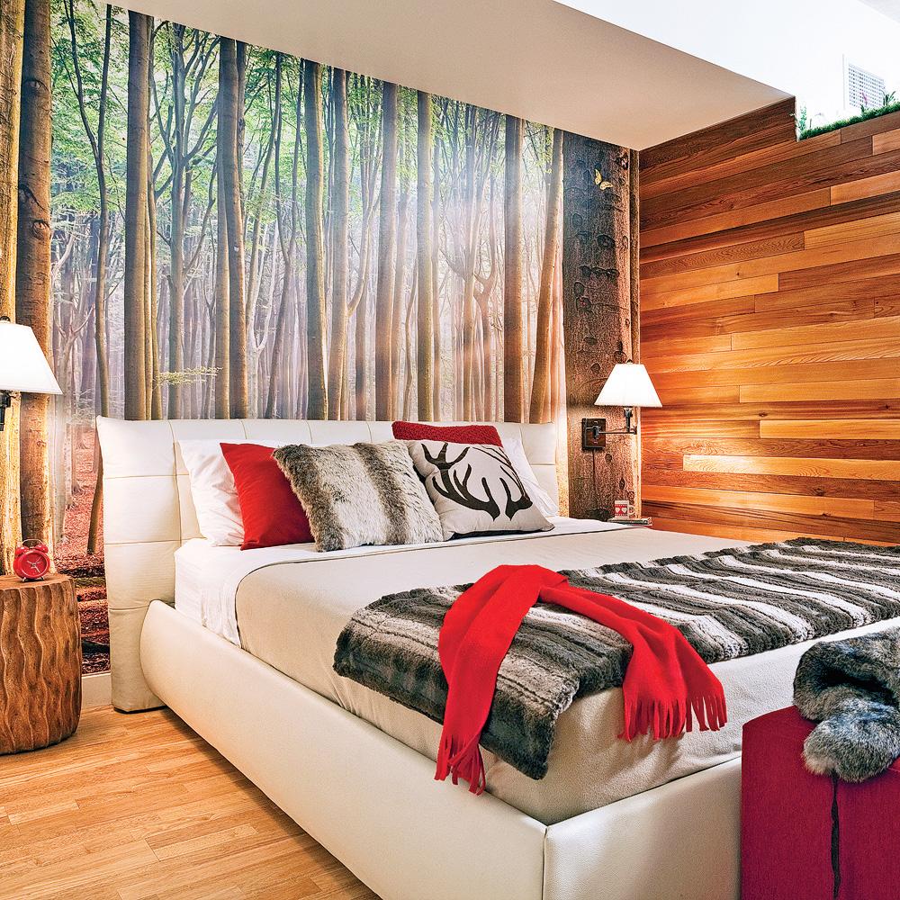 chambre mural arbre forêt