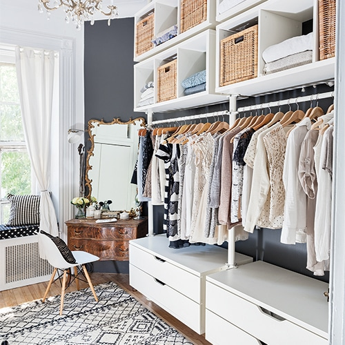 dressing / walk-in ouvert Ikea