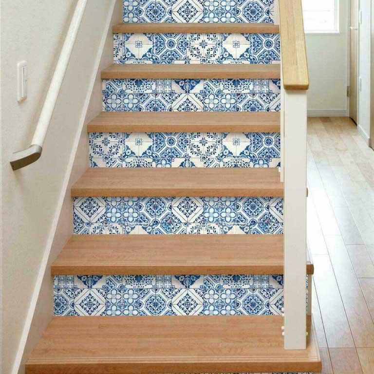 papier peint adhésif marches escalier