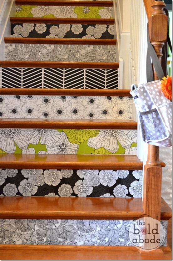 relooker un escalier avec un petit budget d conome. Black Bedroom Furniture Sets. Home Design Ideas