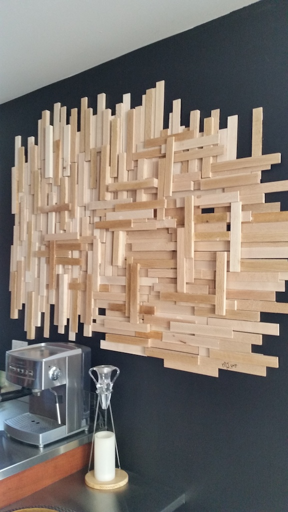 un diy de d co murale en bois pour moins de 20 d conome. Black Bedroom Furniture Sets. Home Design Ideas