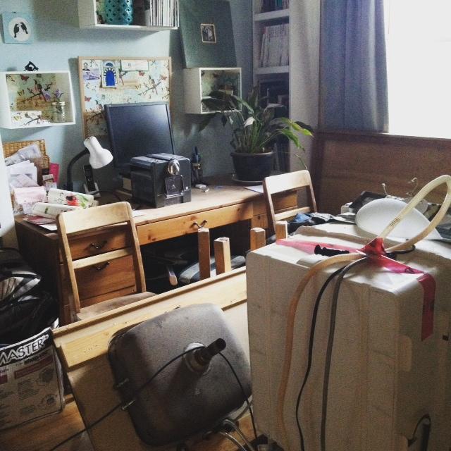 rénovation bureau poussière