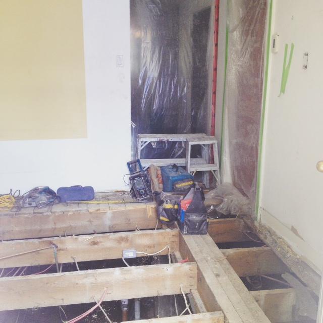 rénovation cuisine plancher solives