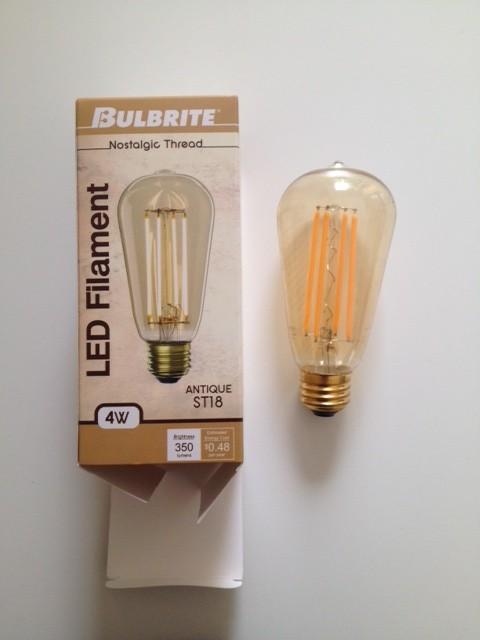 Ampoule LED DEL vintage Edison Montréal Québec