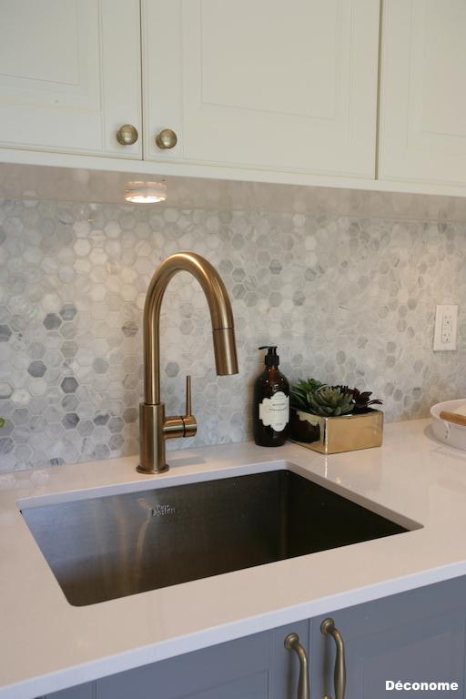 Delta trinsic faucet champagne robinet laiton doré
