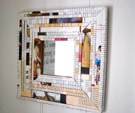 cadre papier mâché