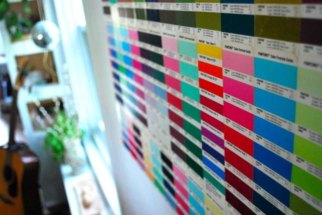 charte de couleurs Pantone