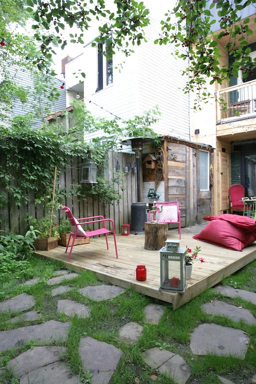 patio niveau du sol