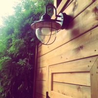 Luminaire vintage et autres bricolages au jardin