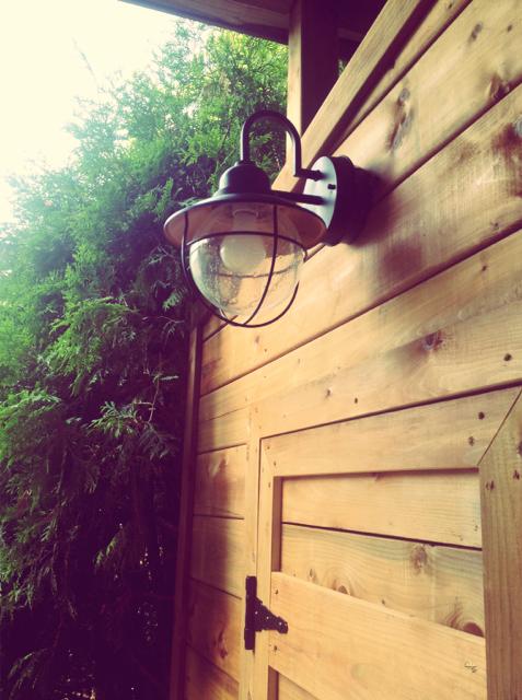 Luminaire vintage et autres bricolages au jardin d conome for Luminaire exterieur retro