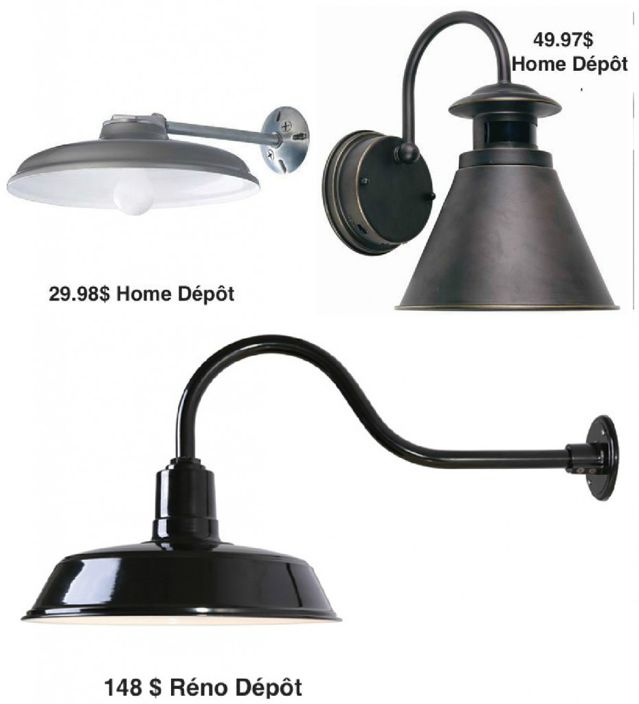 Luminaire ext rieur home depot for Exterieur home